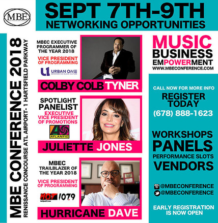4th Annual MBE Conference Sept. 7-9th  Entertainment Law Panel with Bernie Lawrence-Watkins