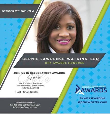 October 27, 2018 - DPA CELEBRATORY AWARDS HONOREE