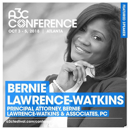 A3C Conference October 3-5, 2018 - Bernie Lawrence-Watkins Master Class