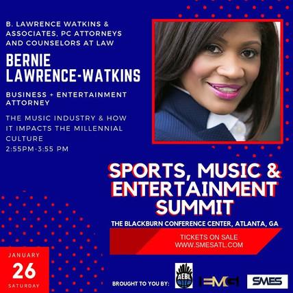 Sports, Music & Entertainment Summit January 26, 2019 2:55pm