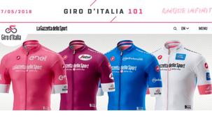 Giro d'Italia 2018 apresenta as camisas de líderes
