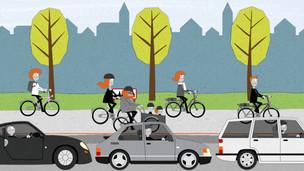 Bicicleta ou automóvel? O que é melhor? A resposta não é facil e nada transversal a toda a gente