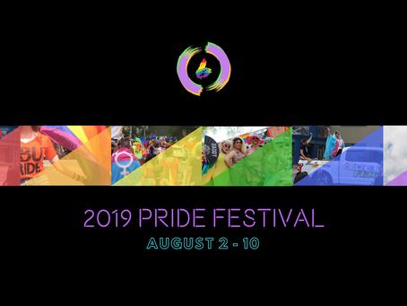 2019 Pride Festival Dates