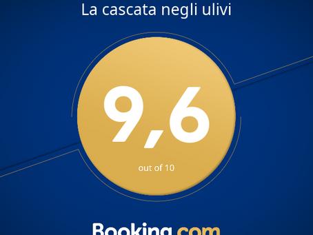 """Booking.com premia """"La Cascata negli Ulivi"""" con il """"Guest Review Award 2017"""""""