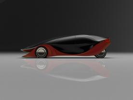 Electric sedan concept.