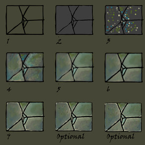 How to paint a cracked floor tile using Photoshop