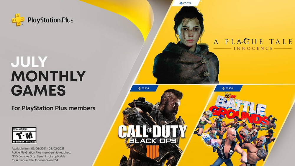 PlayStation Plus games releasing in July
