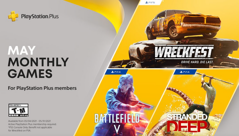 PS Plus games for May.