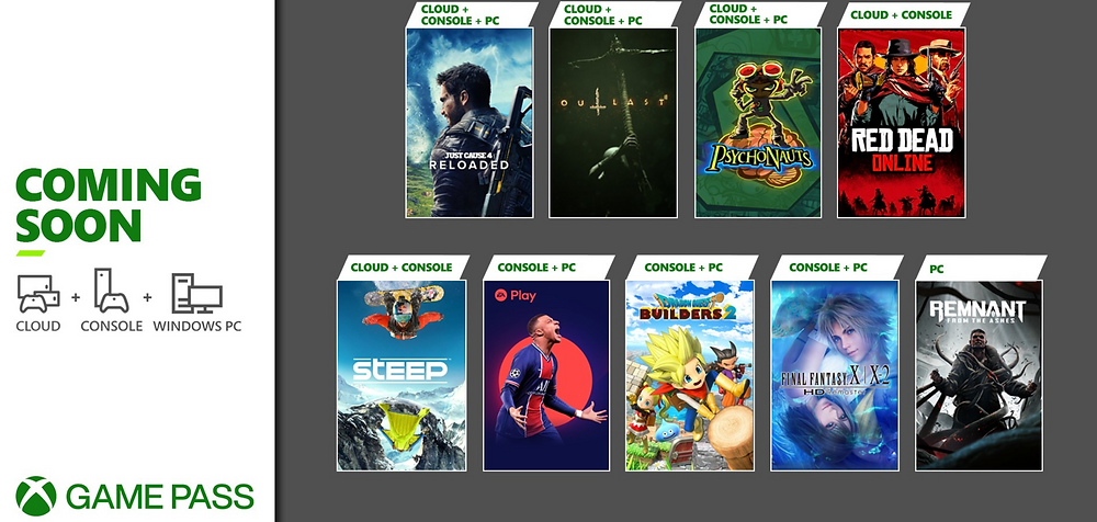 xbox game pass for the month of may
