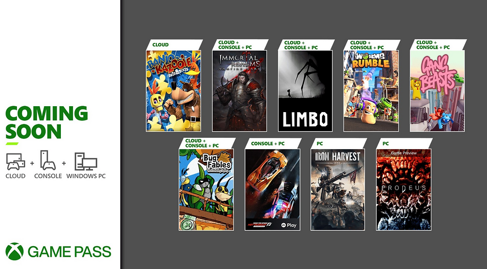 New July additions to Xbox Game Pass