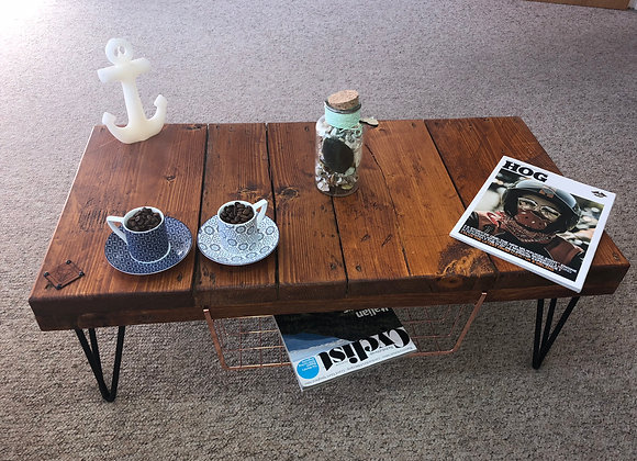 Copper Shelf Coffee Table