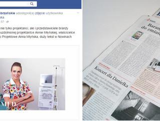 Od elegancji do kolorowych fartuchów - Anna Młyńska w Nowinach Zabrzańskich