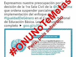 FAMILIAS PERUANAS, DEFIENDEN SU SOBERANÍA FRENTE A LA ONU POR LA IDEOLOGÍA DE GÉNERO