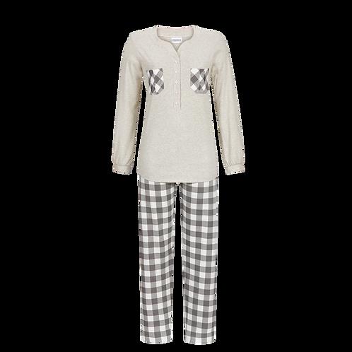 Ringella pyjama grijs geruit