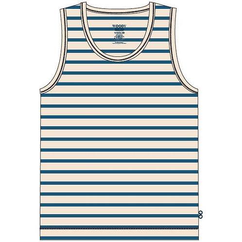 Woody hemdje jongens, blauw/wit gestreept