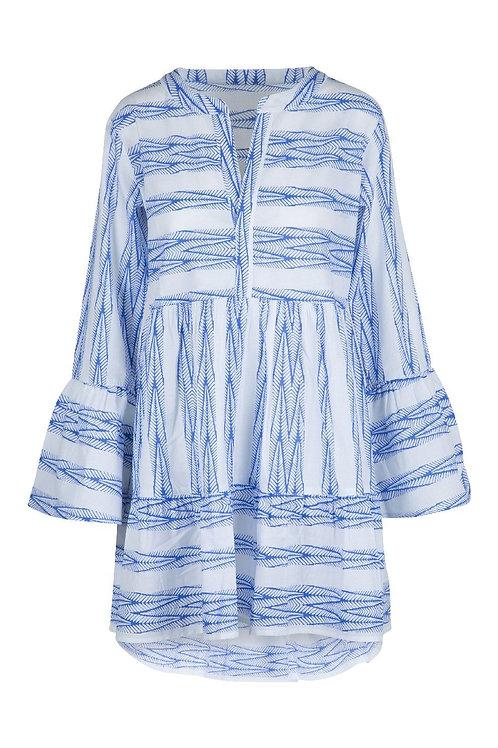 Lingadore tuniek , blauw/witte print