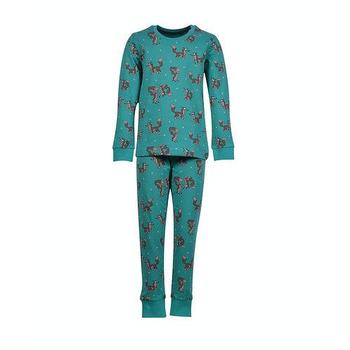 WOODY jongens pyjama wolf, all-over print