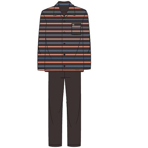 Woody pyjama doorknoop gestreept