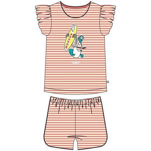 Woody pyjama meisjes zeemeeuw gestreept