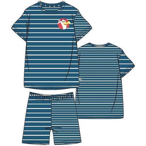Woody pyjama jongens/heren zeemeeuw, gestreept
