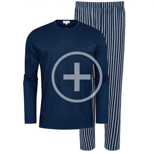 Mey pyjama heren portimo, donkerblauw