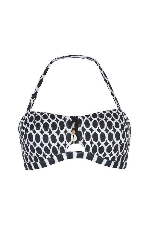 Lingadore bikini bandeau set black&white print