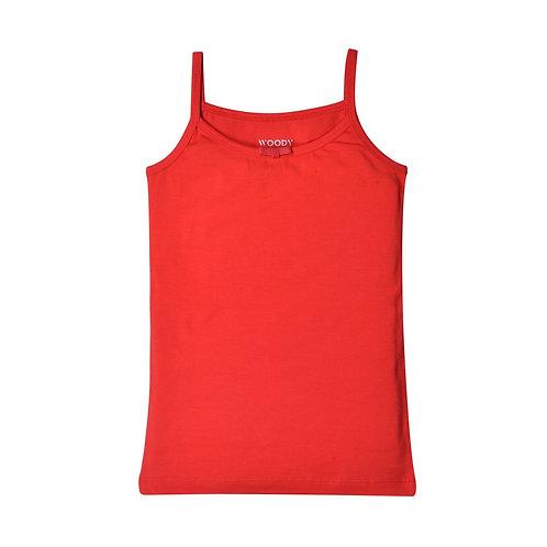 Woody hemdje meisjes, rood