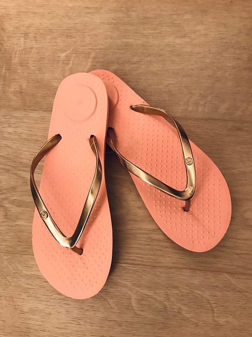 Isotoner slippers, koraal