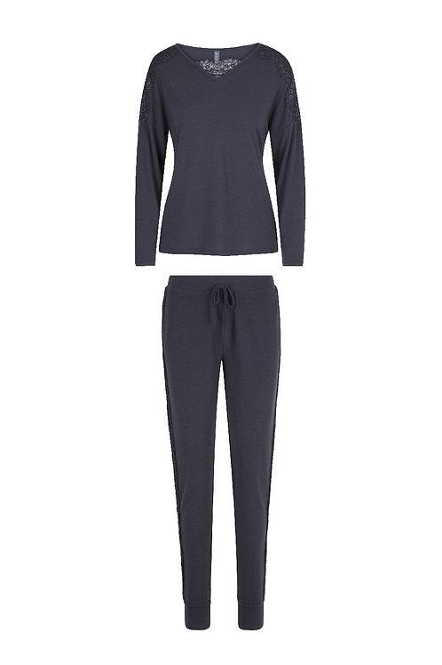 Lingadore Nine iron pyjamaset, grijs