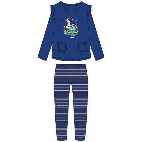 Woody pyjama meisjes ijsbeer, blauw