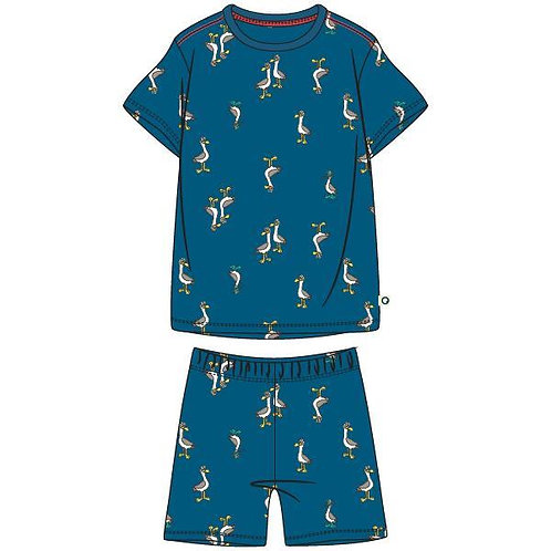 Woody pyjama jongens, all over print zeemeeuw