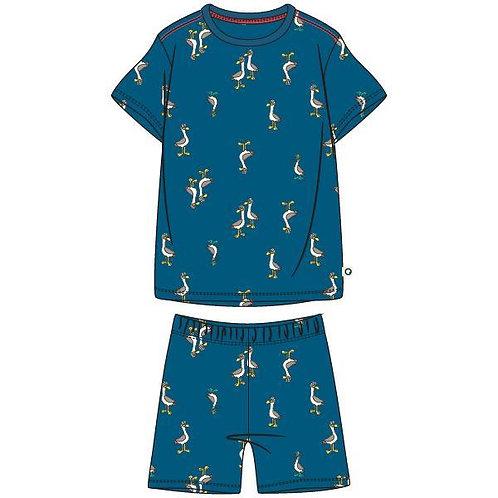 Woody pyjama jongens, all over print zeemeeuw