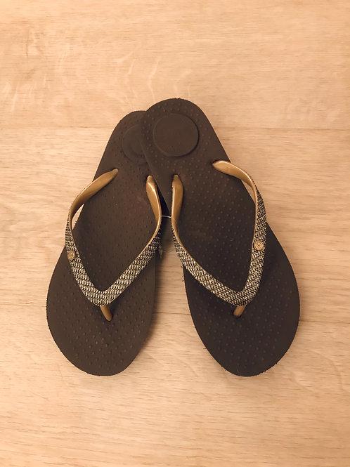 Isotoner slippers, marron