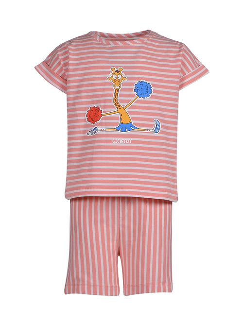 Woody giraf gestreept, roze