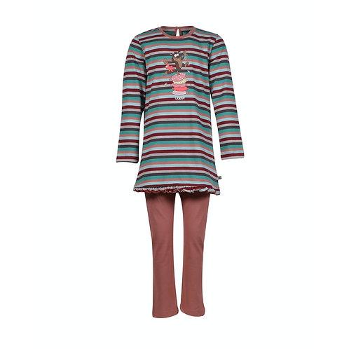 Woody meisjes pyjama wolf,effen broek