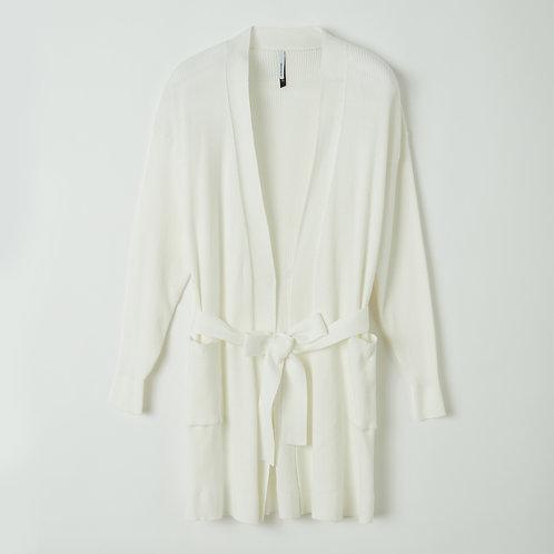 Lords&Lillies gebreide vest gebroken wit