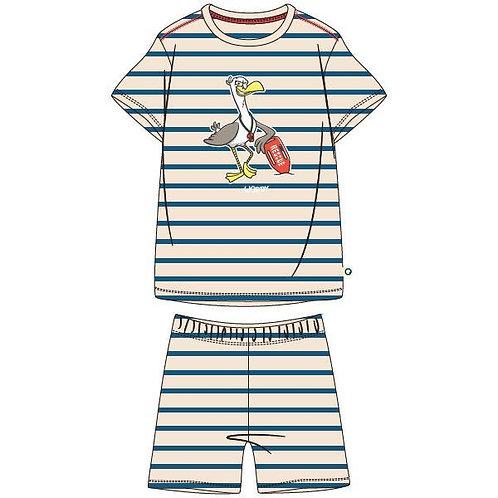 Woody pyjama jongens volledig gestreept zeemeeuw