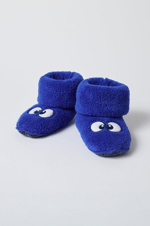 Woody pantoffels met ogen, blauw