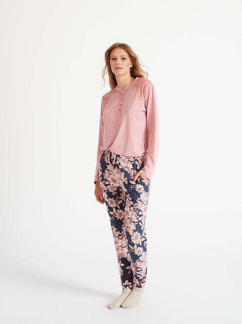 Promise Pyjama roze bloemen