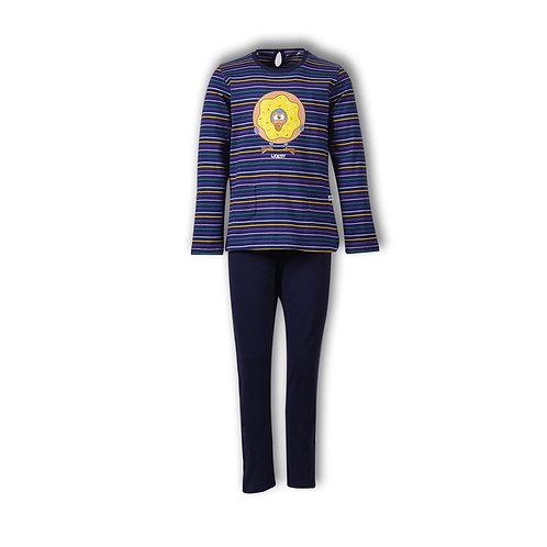 Woody pyjama meisjes , gestreept donkerblauw