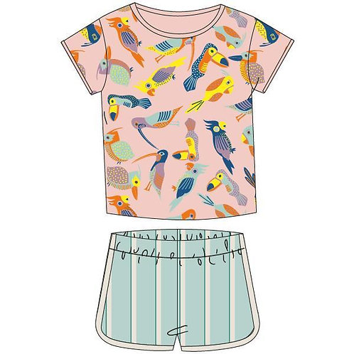 Woody girlzzz vogels pyjama set