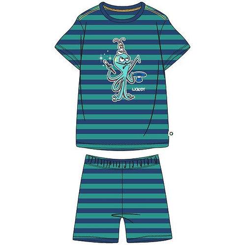 Woody pyjama jongens volledig gestreept octopus