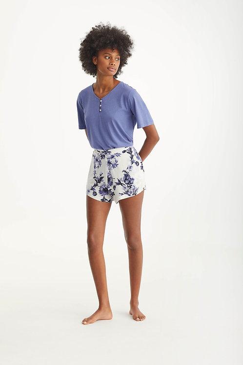 Promise pyjamset T-shirt+short, blauw