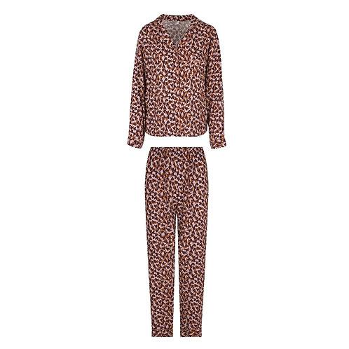 Lingadore pyjamaset doorknoop, hartenprint