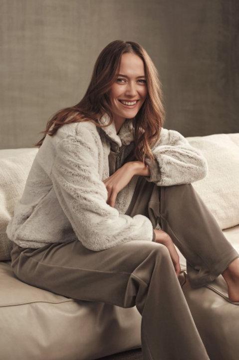 Lords&Lillies sweater met rits en broek beige