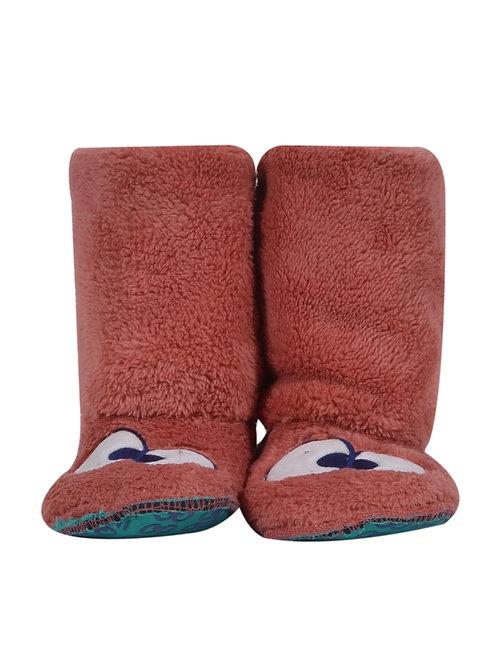 Woody pantoffels met ogen, roze