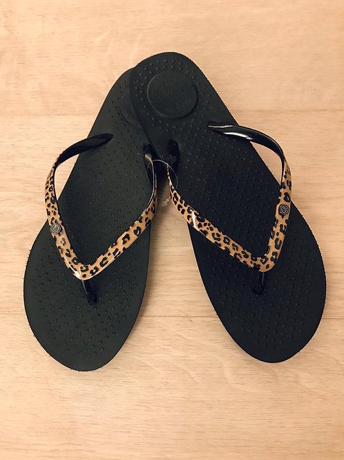 Isotoner slippers, zwart