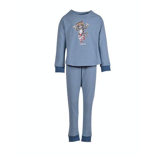 WOODY meisjes pyjama kat, volledig gestreept