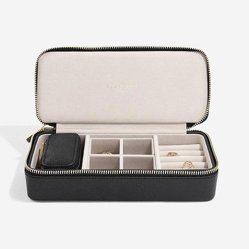 Stackers Black Large Travel Jewellery Box