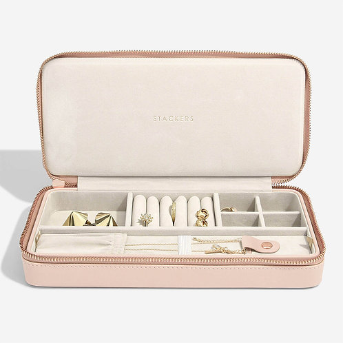 Stackers Blush Sleek Necklace Travel Jewellery Box